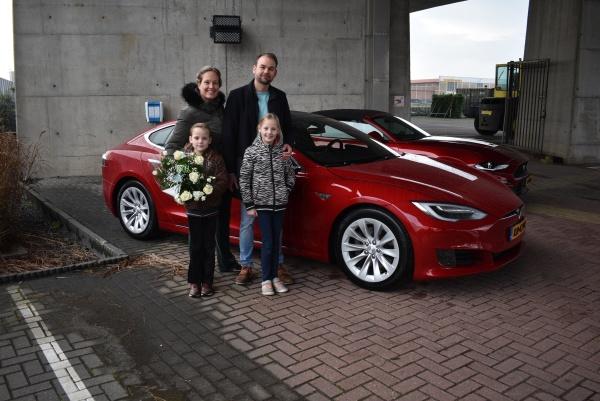 Aflevering Tesla Model S